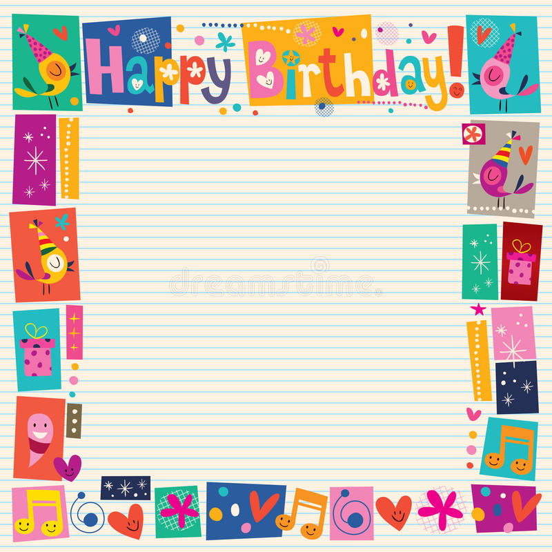 happy birthday border paper ; happy-birthday-decorative-border-lined-note-book-paper-32682020