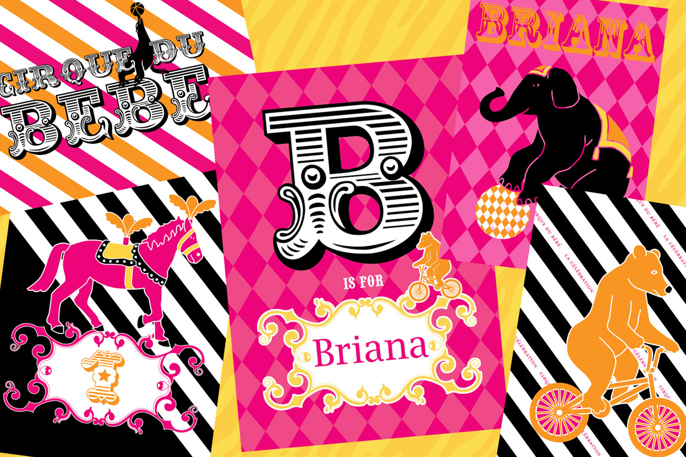happy birthday briana ; paper-collage