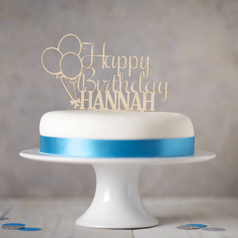 happy birthday cake decorations ; original_personalised-wooden-birthday-cake-topper