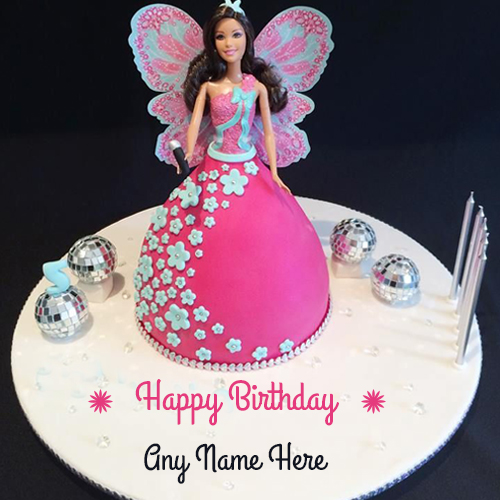 happy birthday cake pictures with name ; barbie-doll-cake-with-name