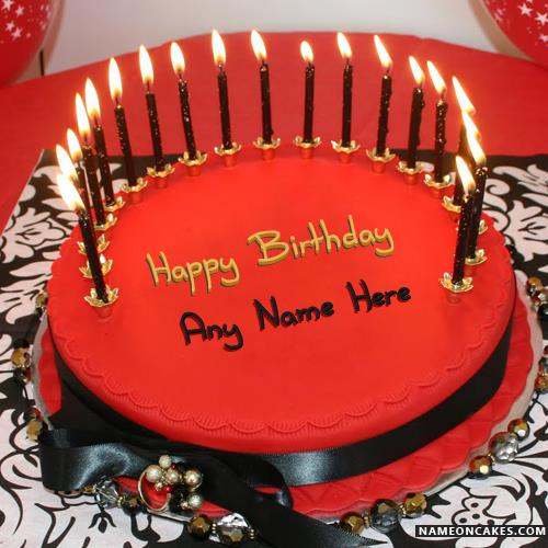 happy birthday cake pictures with name ; candles-red-velvet-cakes-for-happy-birthday-with-name2f67