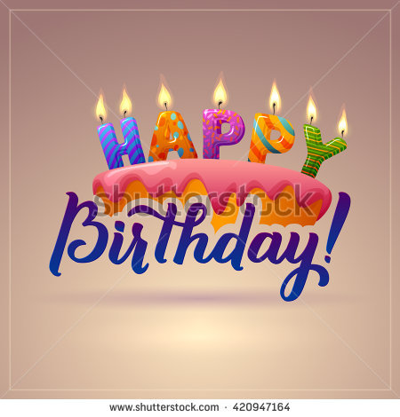 happy birthday cake poster ; stock-vector-happy-birthday-background-cake-with-candles-and-an-inscription-letters-candles-calligraphy-420947164