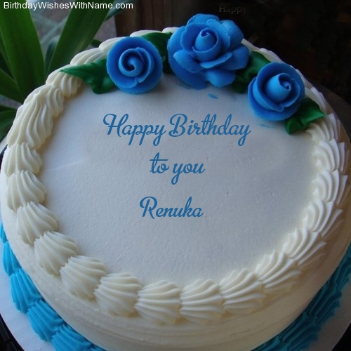 happy birthday cake with name image download ; custom-name-renuka-on-birthday-cake-imagename