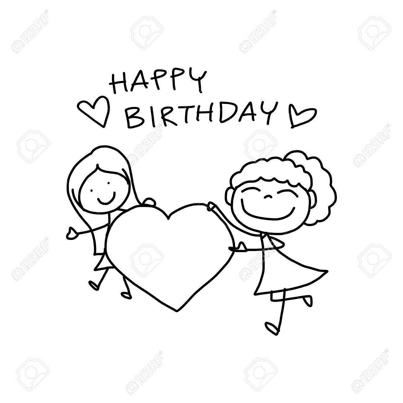 happy birthday cartoon drawing ; happy-birthday-drawing-images-16