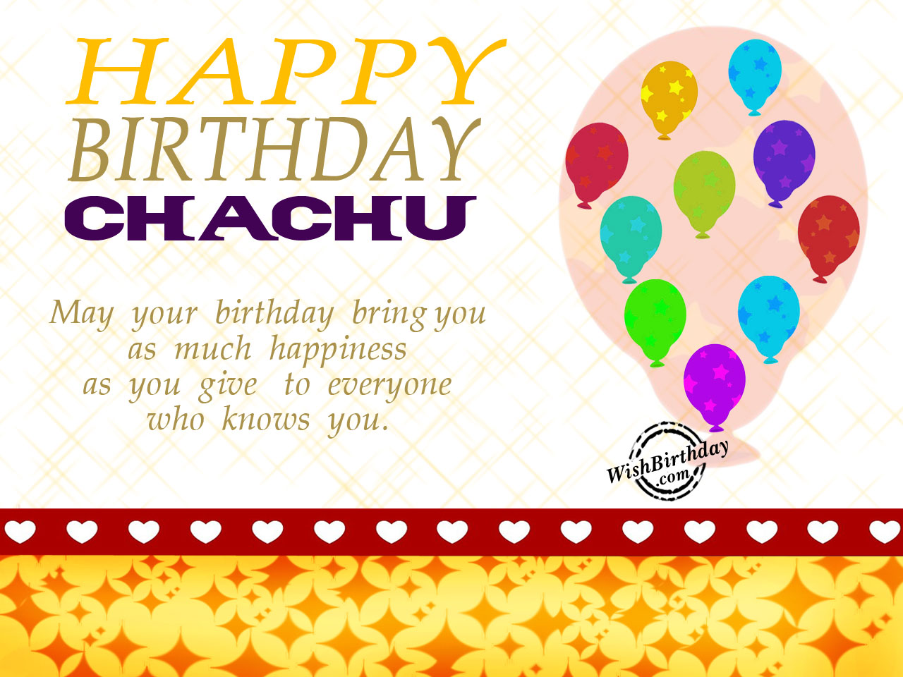 happy birthday chachu wallpaper ; May-your-birthday-give-you-as-much-happiness