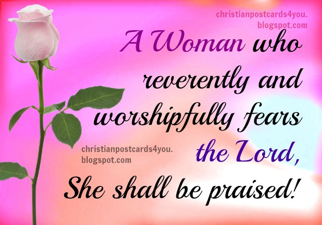 happy birthday christian woman ; woman+who+fears+Lord+praised+free+christian+card+