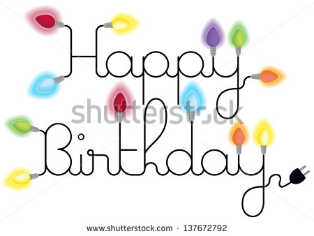 happy birthday christmas clipart ; stock-vector-happy-birthday-card-with-text-and-lighting-colorful-bulbs-isolated-on-white-background-137672792
