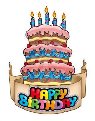happy birthday clipart for email ; Happy-birthday-clipart-cake-2