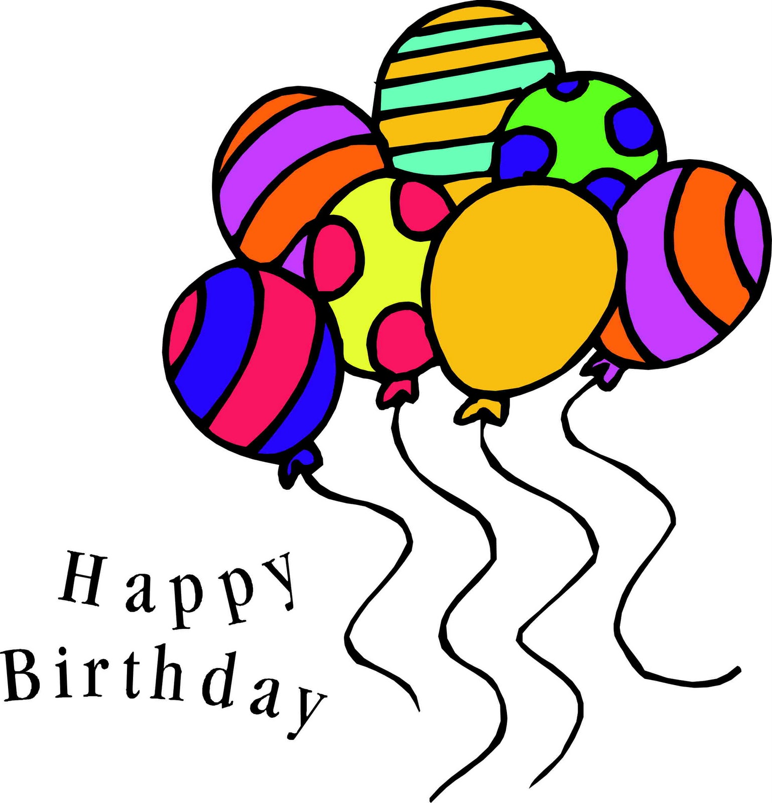 happy birthday clipart for email ; happy-birthday-balloons-clipart-32