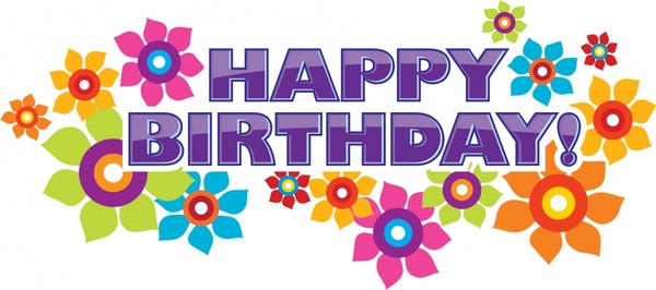 happy birthday clipart for email ; happy_birthday_flowers_vector_295137
