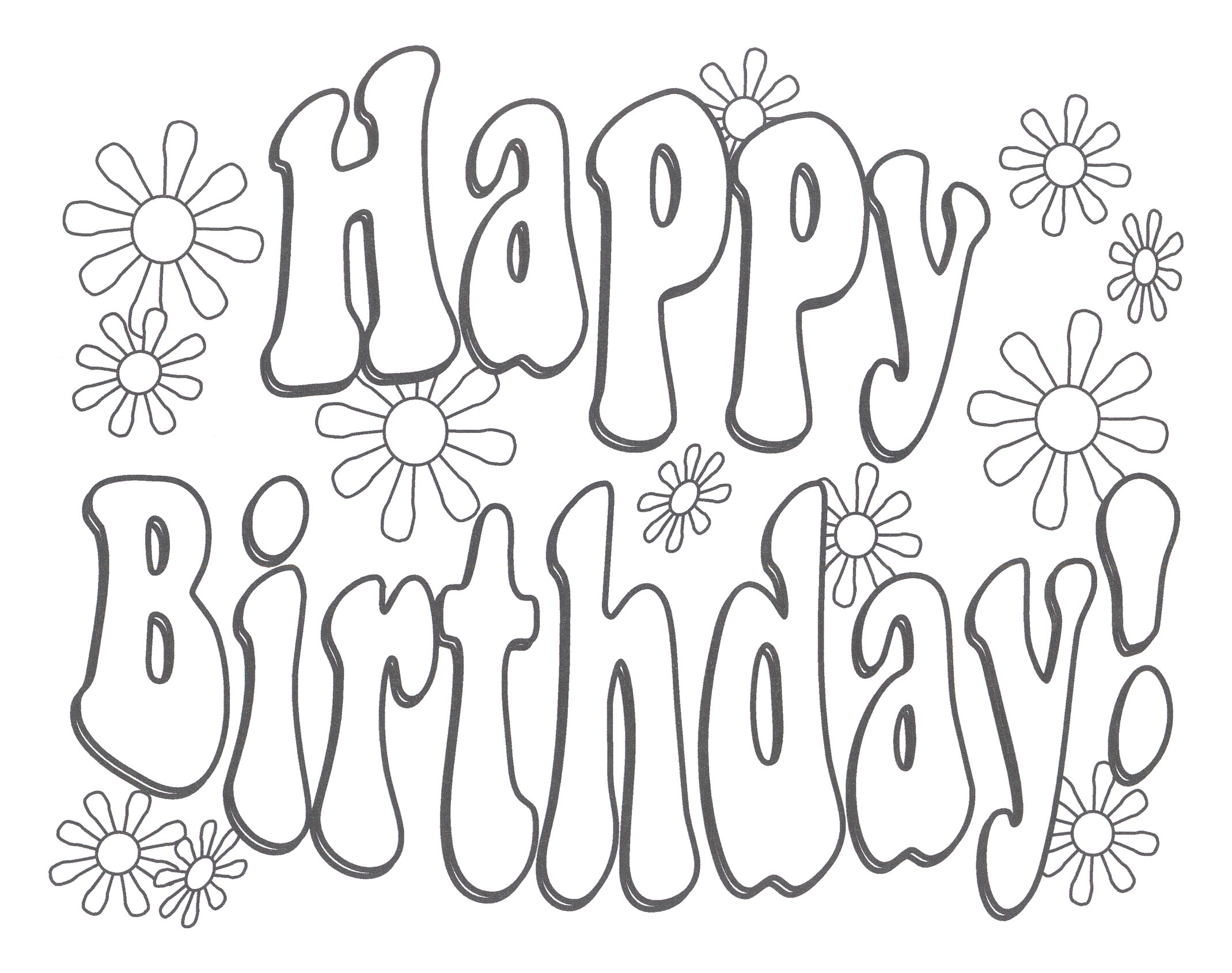 happy birthday coloring ; unique-happy-birthday-coloring-page-pages-montenegroplaze-me