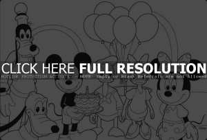 happy birthday coloring pages disney ; birthday-mickey-mouse-coloring-pages-300x204
