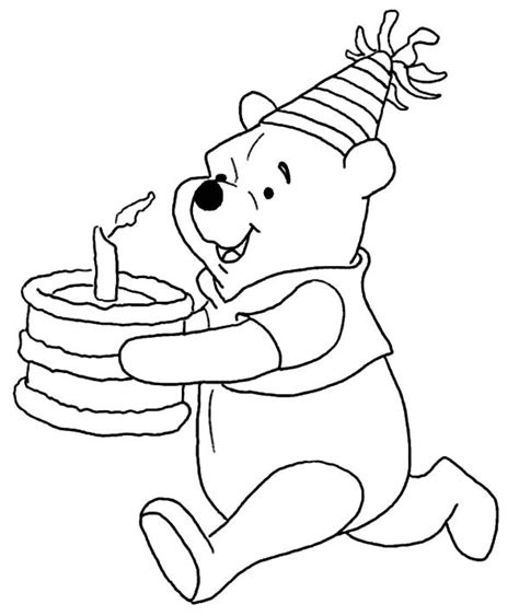 happy birthday coloring pages disney ; disney-winnie-the-pooh-running-with-birthday-cake-coloring-3