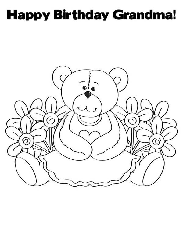 happy birthday coloring pages for grandmas ; Happy-Birthday-Grandma-Coloring-Page