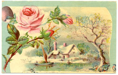 happy birthday country ; pcGrtgBD-HappyBirthday-pink-rose-country-scene