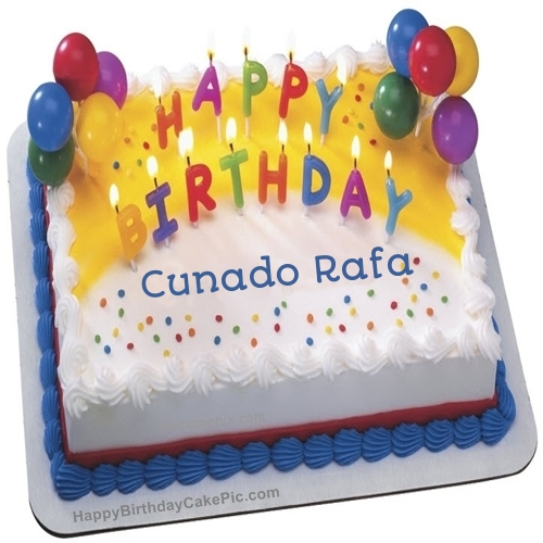 happy birthday cu%c3%b1ado ; brother-birthday-wish-cake-with-candles-for-Cunado%2520Rafa