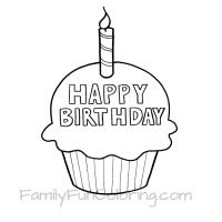happy birthday cupcake coloring pages ; 14327c98938567e30cfb354b94bdd15a--birthday-coloring-pages-cupcake-template