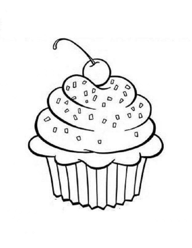 happy birthday cupcake coloring pages ; 1_1592