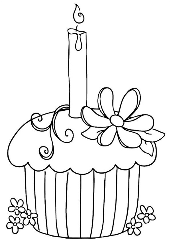 happy birthday cupcake coloring pages ; Happy-Birthday-Cupcake-Coloring-Page1