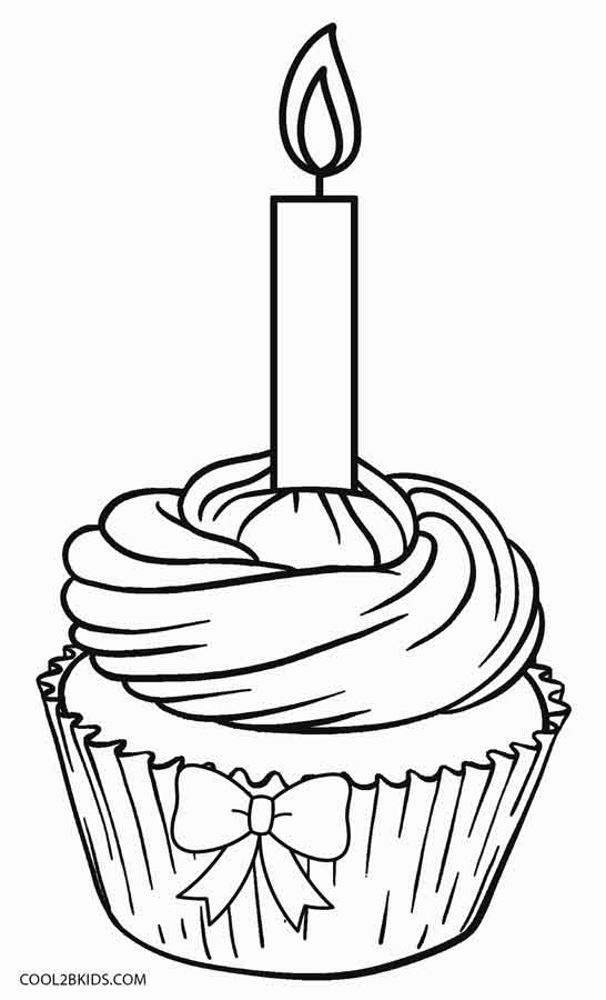 happy birthday cupcake coloring pages ; Happy-Birthday-Cupcake-Coloring-Pages
