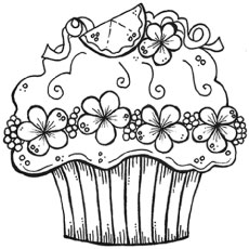 happy birthday cupcake coloring pages ; decorative-cupcake