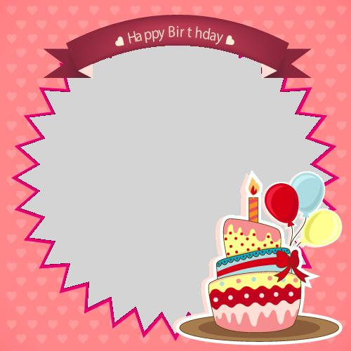 happy birthday custom picture ; 1455789242Happy%2520Birthday%2520Wishes%2520Frame%2520With%2520Cake%2520and%2520Custom%2520Photo