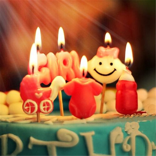 happy birthday cute baby image ; Happy-Birthday-Candles-Toothpick-Cake-Candles-Party-Decor-Cute-Baby-Girl
