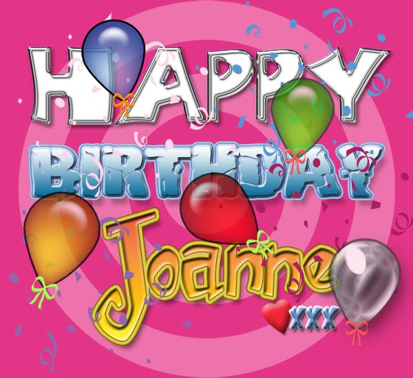 happy birthday daughter banner ; Joanne+Birthday+Banner