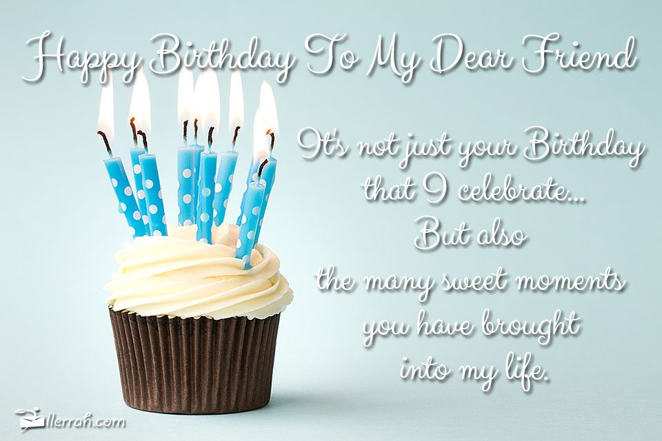 happy birthday dear friend ; postcard-birthdaydearfriend