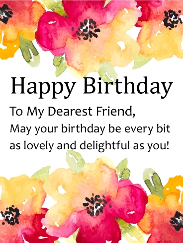 happy birthday dear friend ; watercolor-flower-happy-birthday-card-for-friends-birthday-pertaining-to-happy-birthday-dear-friend-flowers