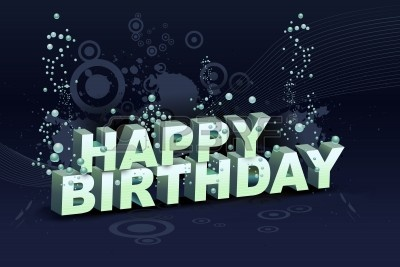happy birthday dj ; 9881954-illustration-of-happy-birthday-text-on-abstract-background