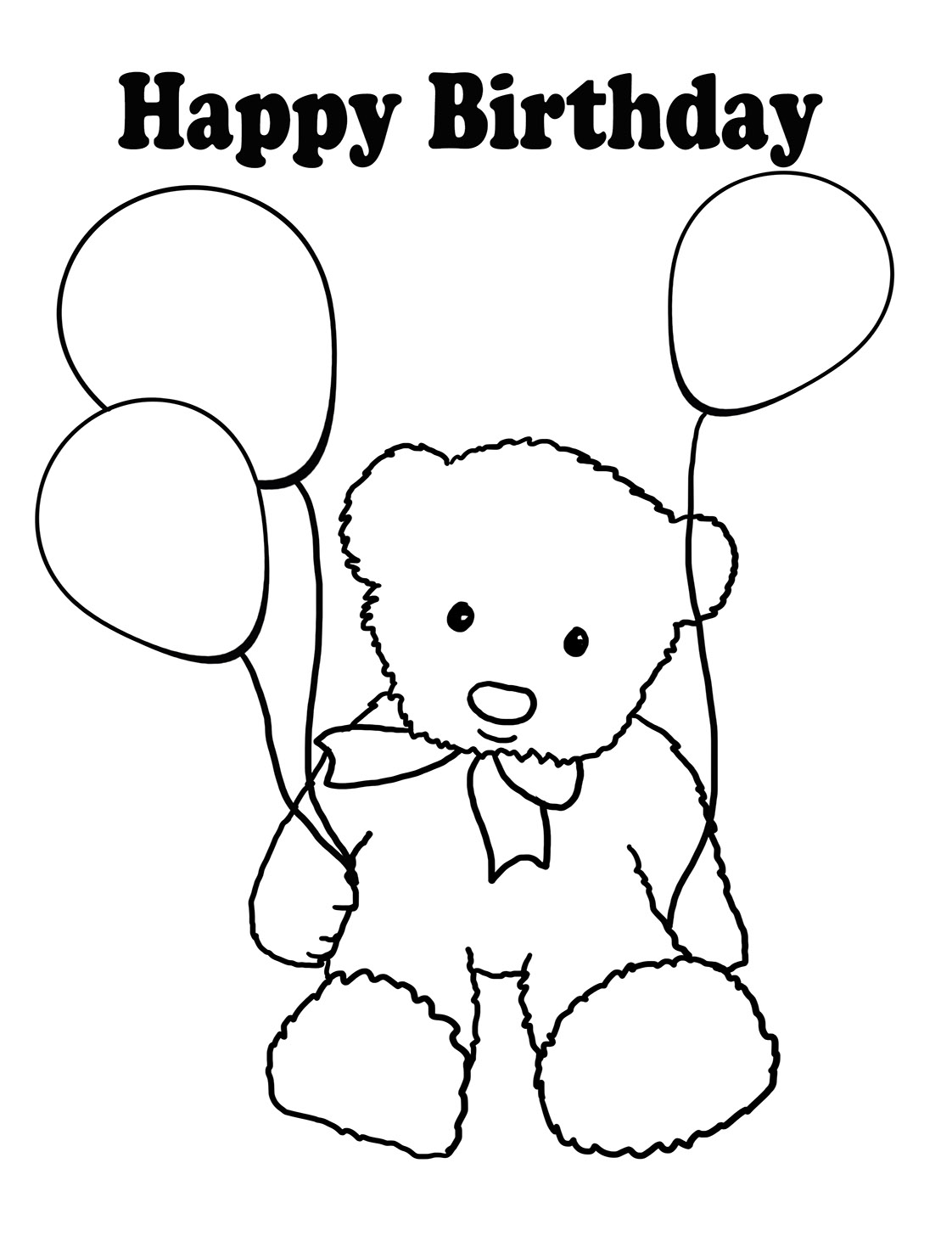 happy birthday drawing easy ; birthday-coloring-teddy-bear-balloons
