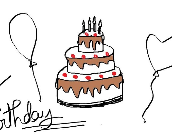 happy birthday drawing easy ; simple-birthday-drawings-simple-birthday-drawings-easy-kids-drawing-lessons-how-to-draw-a-cartoon-birthday-cake-valentine-coloring-pages-free-678x540