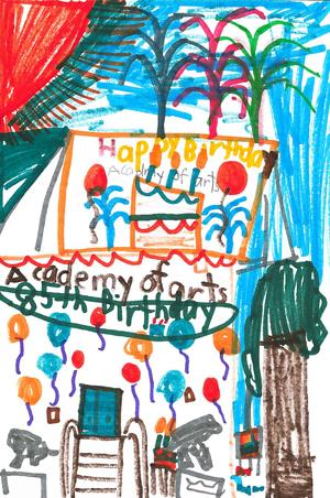 happy birthday drawing for kids ; bohs_apr