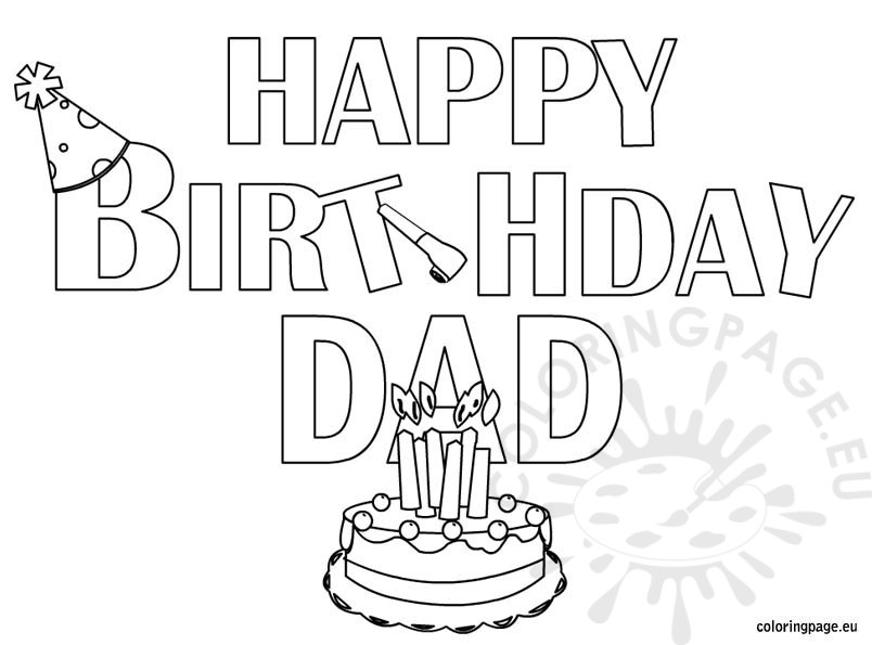 happy birthday drawings for dad ; happy-birthday-dad-coloring-page