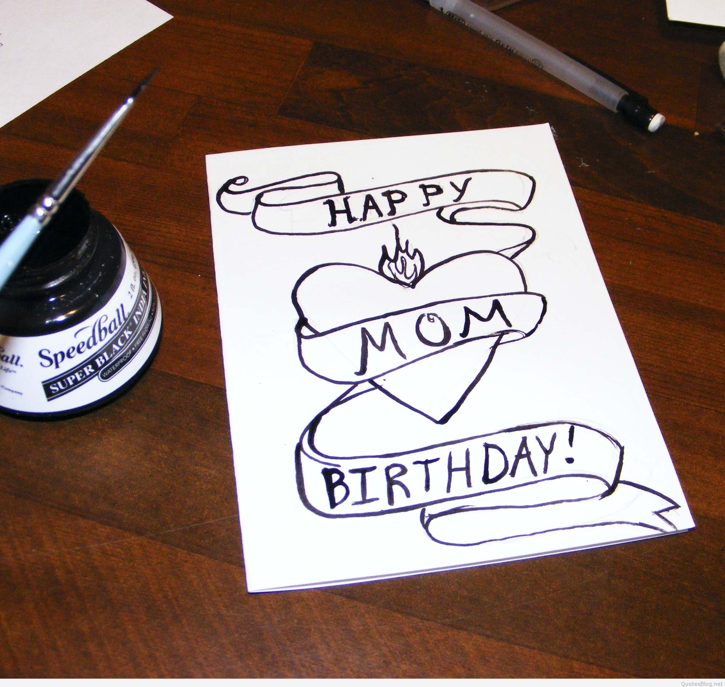 happy birthday drawings for mom ; happy_birthday_mom_quotes_pictures_hd_wallpapers