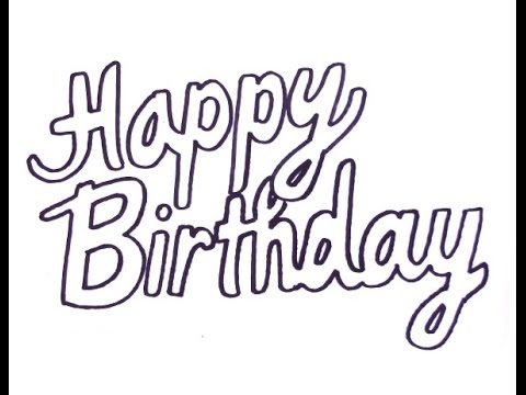 happy birthday drawings step by step ; hqdefault