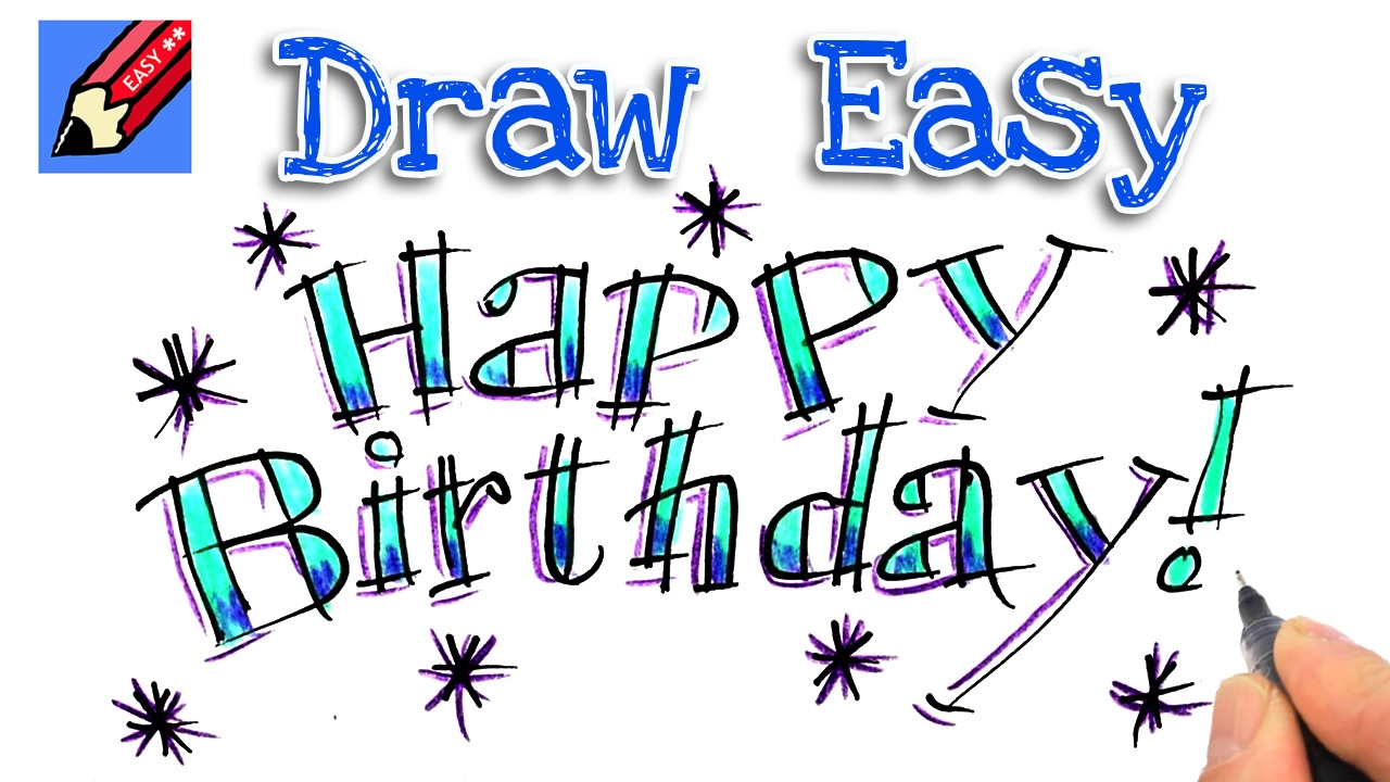 happy birthday drawings step by step ; maxresdefault