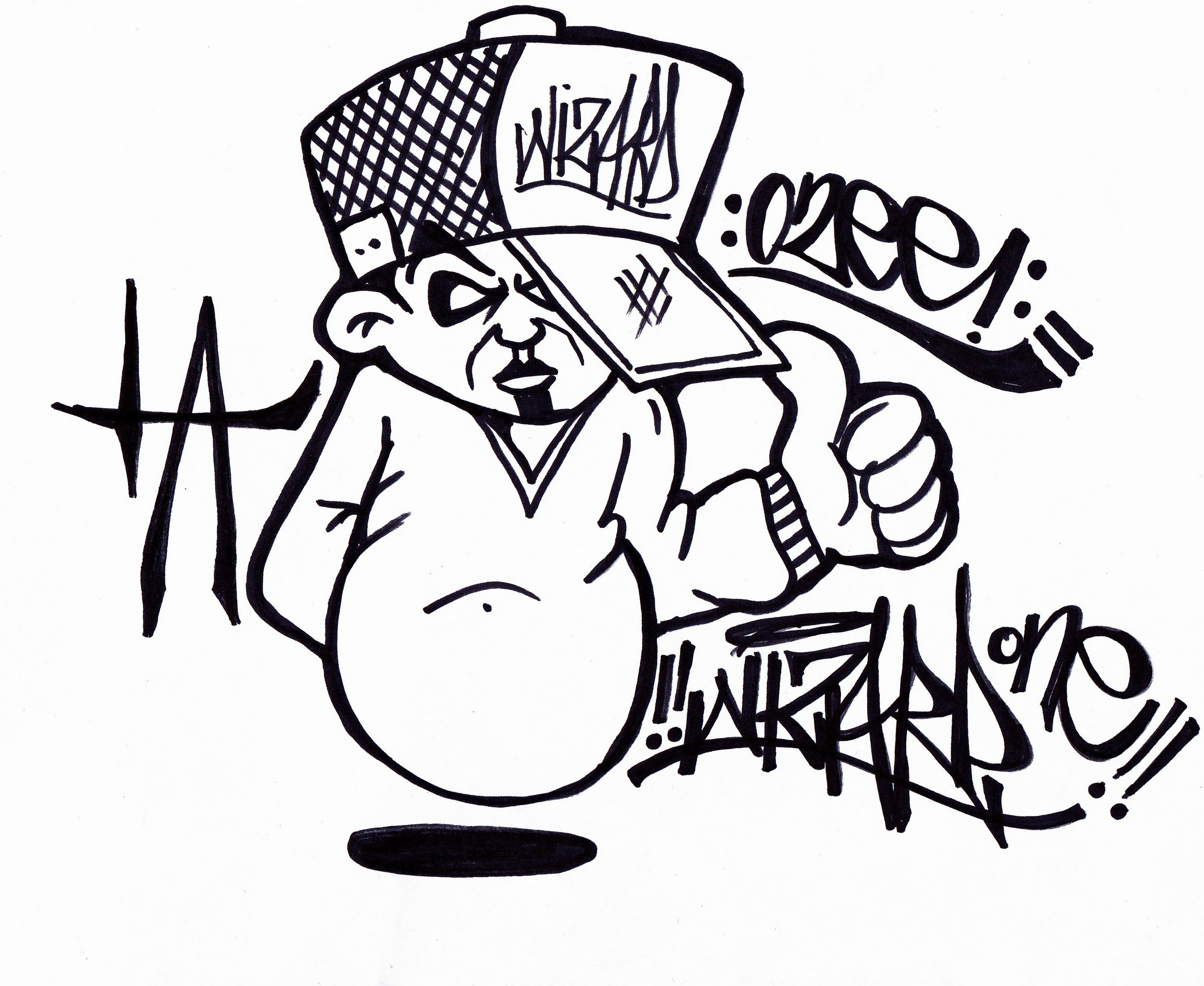 happy birthday drawings step by step ; simple-doodle-art-for-birthday-happy-birthday-drawing-graffiti-black-and-white-graffiti