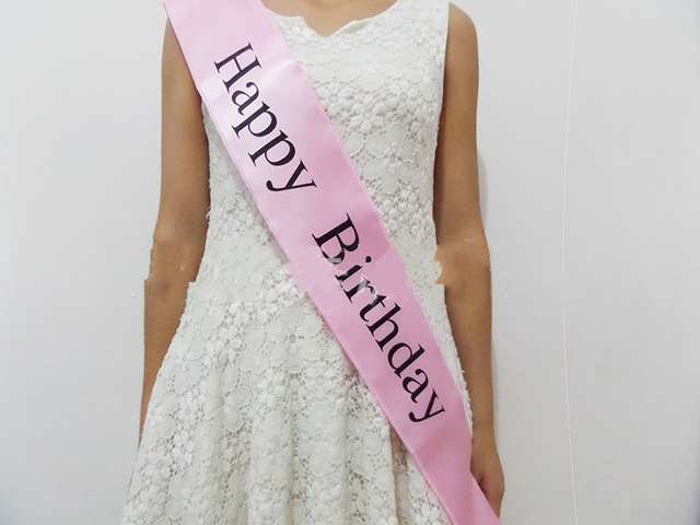 happy birthday dress ; 10-pcs-Birthday-party-supplies-happy-birthday-Stain-Sashes-for-Princess-fit-women-dress-party-favors