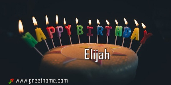 happy birthday elijah ; Happy-Birthday-Elijah-Cake-Candle