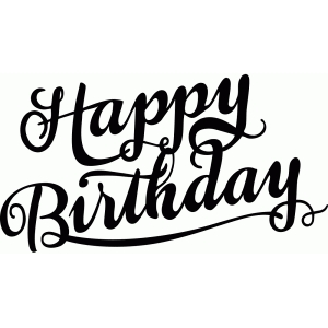 happy birthday font ; d96008