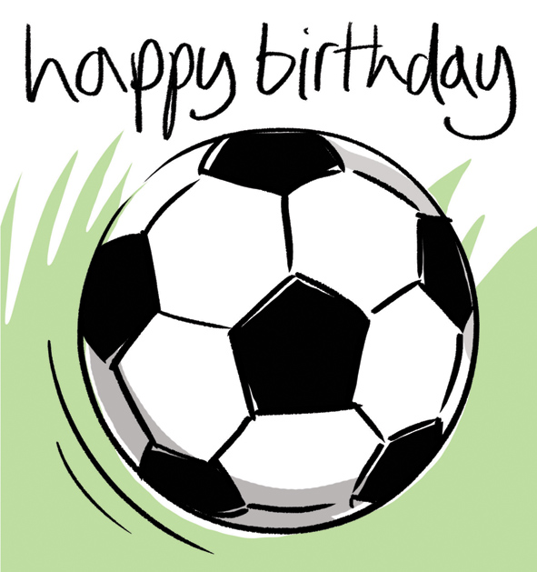 happy birthday football images ; BSH031
