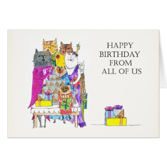happy birthday from us ; happy_birthday_from_all_of_us_cat_characters_card-r72cd5df4ff504f6ca25ee3e3a3c5eb18_xvuak_8byvr_540