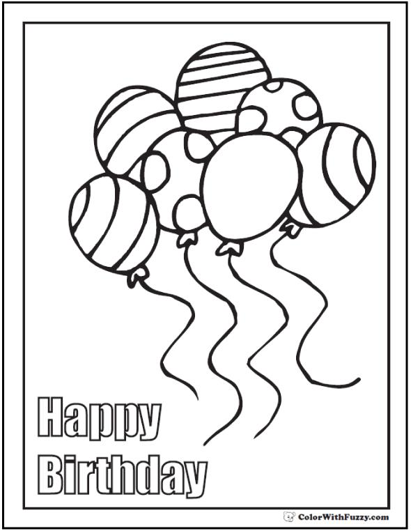 happy birthday gift drawing ; coloring-pages-happy-birthday