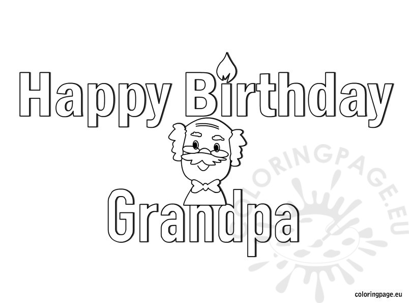 happy birthday grandpa coloring page ; happy-birthday-grandpa2