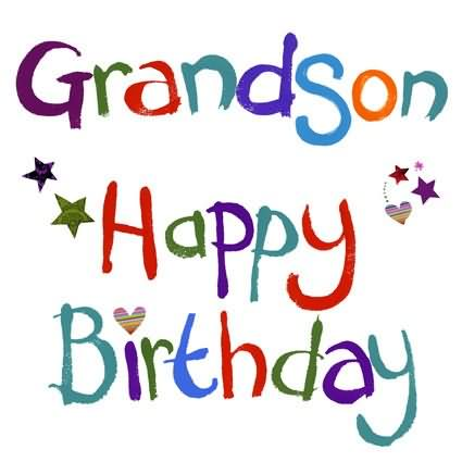 happy birthday grandson facebook ; Happy-Birthday-Grandson-Colorful-Text-Wishes-Graphic
