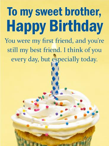 happy birthday greetings card for brother ; b_day_fbr67-55652f17c7ebc128417435274328a0b2