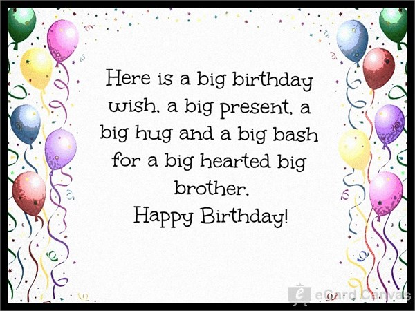 happy birthday greetings card for brother ; is8g