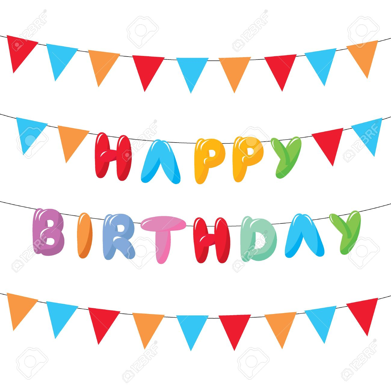 happy birthday hanging sign ; 17717236-happy-birthday-with-hanging-flags-for-cards-banners-and-others